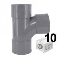 Lot de 10 raccords PVC - Culotte 87°30 Femelle Femelle Ø40 OU Ø50 FIRST-PLAST