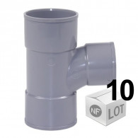 Lot de 10 raccords PVC - Té pied de biche 87°30 Femelle Femelle Ø32 - Ø40 - Ø50 - Ø100 FIRST-PLAST