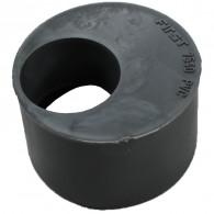 Tampon de réduction PVC Mâle Ø75 Femelle Ø40 ou Ø50 First Plast