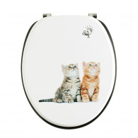Abattant WC DECO Bois chatons - Wirquin Pro 20721504