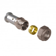 Adaptateur multicouche à sertir / cuivre à compression - Henco