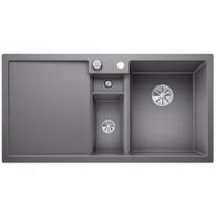 Évier de cuisine Collectis 6S - Alumétallic - sous-meuble 60 cm - L 1000 x l 500 x P 190 mm + Bac de tri - Blanco