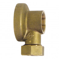 "Applique robinet arrosage Femelle (15/21) 1/2"" - Tube Cuivre Ø14 (collet battu)"