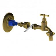 Applique robinet de jardin APLIC'EASY laiton Femelle 1/2