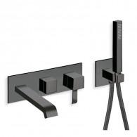 Bain douche mural 3 sorties Blackmat Quadri - Ondyna QM11013
