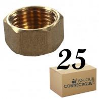 """Lot de 25 Bouchons Laiton Femelle 1/2"""" (15/21) - Arcanaute"""