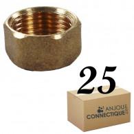 """Lot de 25 Bouchons Laiton Femelle 3/8"""" (12/17) - Arcanaute"""