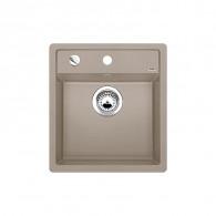 Évier à encastrer Dalago 45 Tartufo - Sous-meuble 45 cm - 445 x 490 mm - Vidage automatique - Blanco