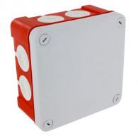 Boite dérivation étanche rouge OPTIBOX membranes IP55 100x100x55mm