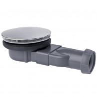 Bonde de douche SLIM Dôme métal Ø90mm - Wirquin Pro 30720269