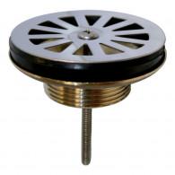 Bonde évier Ø60 mm à grille plate en laiton - Wirquin Pro 30720411