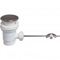 Bonde Lavabo Ø63 mm sans tirette en plastique - Wirquin Pro 30720425