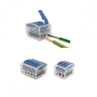 Bornes de connexion 3 fils 0.75 à 2.5mm² à levier - 75 pièces