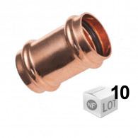 Lot de 10 raccords cuivre à sertir Ø12 ou Ø18 ou Ø22mm - Manchon Femelle