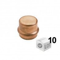 Lot de 10 raccords cuivre à sertir Ø12 ou Ø18 ou Ø22mm - Bouchon Femelle