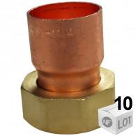 Lot de 10 Douilles droites écrou prisonnier 359 GCL Femelle - Tube Cuivre du Ø12mm au Ø28mm