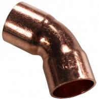 Coude cuivre à souder FF 45°