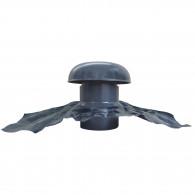 Chapeau de ventilation PVC avec bande plomb - Gris ardoise