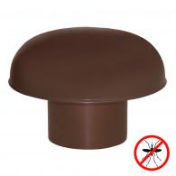 Chapeaux de ventilation PVC avec moustiquaire - Marron
