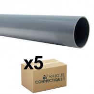 Lot de 5 Tubes PVC évacuation NF-Me lisse - diamètre 32 mm - 4 mètres