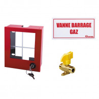 """Coffret coupure Gaz avec vanne NF RG10 - mâle G 3/4"""" - 155x140x70mm"""