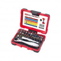 Coffret de 32 embouts de vissage 1/4'' à code couleur TORSIONpower KS Tools 918.3010