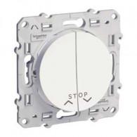 Interrupteur poussoir volet roulant ODACE 2 positions + stop - S520227