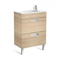Meuble compact Unik DEBBA 600 2 tiroirs et lavabo