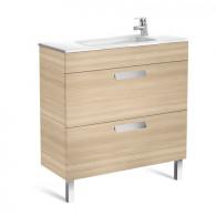 Meuble compact Unik DEBBA 800 2 tiroirs et lavabo