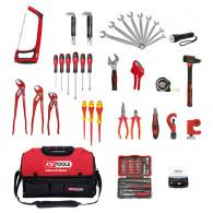 Composition d'outils sanitaire et chauffage en sac SMARTBAG KS Tools 850.0126