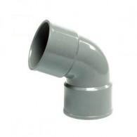 Coude PVC 67°30 FF pour tube de descente Ø80