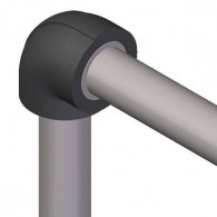 Coude isolant pour réseaux PVC PRESSION - épaisseur 19mm