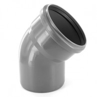 Coude PVC 45° Assainissement MF Ø110 - First Plast