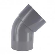 Coude PVC 45° Mâle/Femelle - First Plast