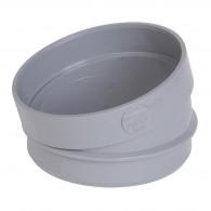 Coude PVC Secteur 15° Mâle Femelle Ø100 NICOLL