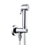 Pack douchette WC jet de pluie en abs Chromé - Cristina Ondyna WC69051