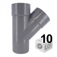 Lot de 10 raccords PVC - Culotte 45° Mâle-Femelle Ø32 - Ø40 - Ø50 - Ø100 FIRST-PLAST