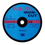 Disque abrasif IRON-CUT diamètre 125 x 1,6mm