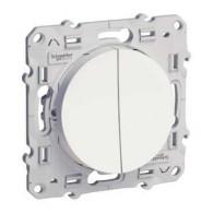 Double va-et-vient blanc ODACE connexion rapide à vis - S520214