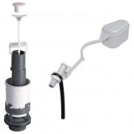 Ensemble Mécanisme de chasse MX à tirette + robinet flotteur F12 - Wirquin Pro 10717747