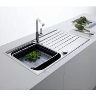 Evier de cuisine Franke ARGOS 211-100 INOX ET MICRODEKOR®