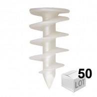 50 chevilles FID 50mm pour fixation dans les isolants PSE et PU