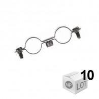 10 Colliers de fixation Atlas double - Ø12 à Ø22 - DISPONIBLE en 5 MODÈLES