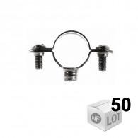 Lots de 50 Colliers de fixation Atlas simple - Ø32 ou Ø35 ou Ø40 - FISCHER