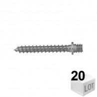 20 Pattes à vis bois 7x150 Fischer - en sachet - DISPONIBLE en 6 Longueurs