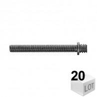 20 Pattes à vis métaux - pas métrique 7x150 Fischer - en sachet - DISPONIBLE en 7 MODÈLES
