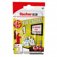Fix-cadres Fischer - Blister de 8 crochets
