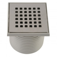 Grille carrée 100x100 mm + support pour Isotanche Classique Ø50