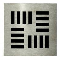 Grille carrée 130 x 130 mm Tetris pour Isotanche