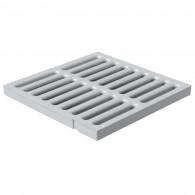 Grille de sol PVC légère anti-choc - GRIS - FIRST-PLAST